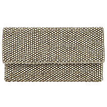 Buy John Lewis Taylor Bead Flat Clutch, Silver Online at johnlewis.com
