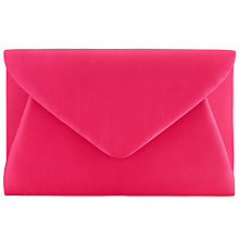 Buy John Lewis Fiona Satin Envelope Clutch, Pink Online at johnlewis.com