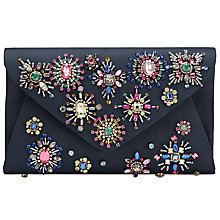 Buy John Lewis Fiona Beaded Envelope Clutch, Navy Online at johnlewis.com