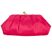 Buy John Lewis Satin Pineapple Clasp Clutch Bag, Pink Online at johnlewis.com