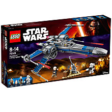 Buy LEGO Star Wars 75149 Resistance X-Wing Fighter Online at johnlewis.com
