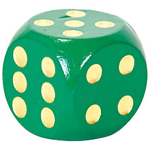 Buy Extra Large Wooden Dice, Single Die, Assorted Colours Online at johnlewis.com