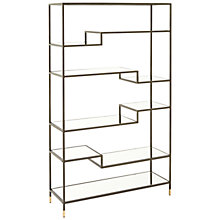 Buy west elm Tiered Tower Bookcase, Bronze Online at johnlewis.com