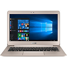 "Buy ASUS ZenBook UX305CA Ultrabook, Intel Core M3, 8GB RAM, 128GB SSD, 13.3"" QHD+, Titanium Gold Online at johnlewis.com"
