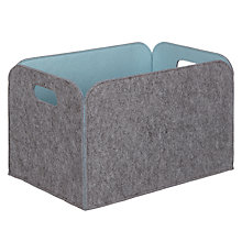 Buy House by John Lewis Felt Storage Box, Grey / Lido Online at johnlewis.com