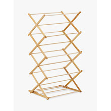 Buy John Lewis Indoor Clothes Airer, FSC-certified (Beech) Online at johnlewis.com