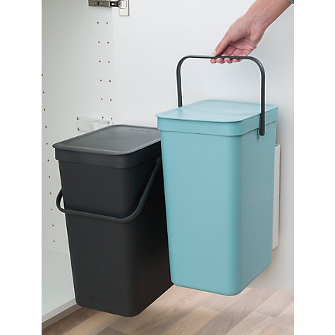 Buy Brabantia Sort Amp Go Built In Bin Grey Mint 2 X 16l