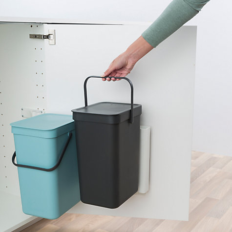 Buy Brabantia Sort Amp Go Built In Bin Grey Mint 2 X 12l