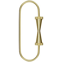 Buy Tom Dixon Brass Cog Loop Keyring Online at johnlewis.com
