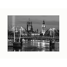 Buy Assaf Frank - Big Ben and Bridge Unframed Print, 40 x 30cm Online at johnlewis.com