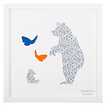 Buy Bertie & Jack - Teddy Bears Picnic Framed 3D Cut-out, 27 x 27cm Online at johnlewis.com