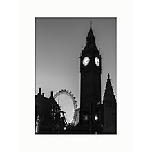 Buy Assaf Frank - Big Ben and London Eye Unframed Print, 40 x 30cm Online at johnlewis.com