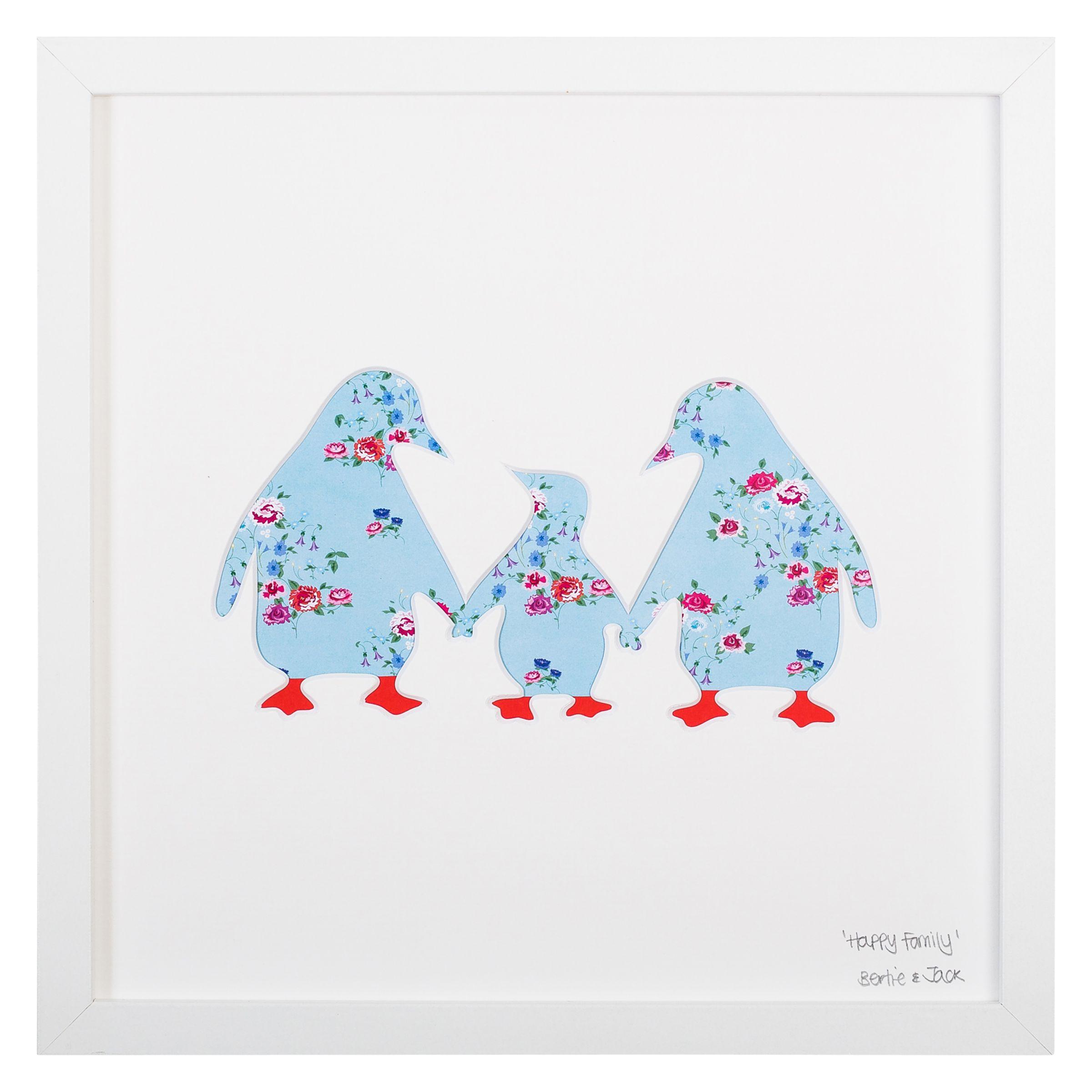 Bertie & Jack Bertie & Jack - Happy Family Framed 3D Cut-out, 27 x 27cm