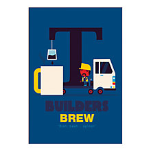 Buy Spencer Wilson - Builders Brew Unframed Print, 40 x 30cm Online at johnlewis.com