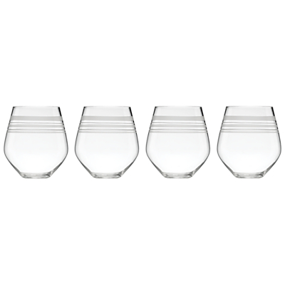 kate spade new york Library Stripe Stemless Wine Glasses, Set of 4
