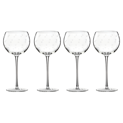 kate spade new york Larabee Dot Etched Wine Glasses, Set of 4