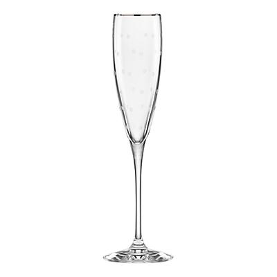kate spade new york Larabee Dot Platinum Crystal Flute