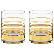Buy kate spade new york Hampton Street Tumbler, Set of 2 Online at johnlewis.com