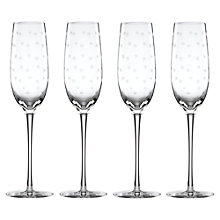 Buy kate spade new york Larabee Dot Etched Flutes, Set of 4 Online at johnlewis.com