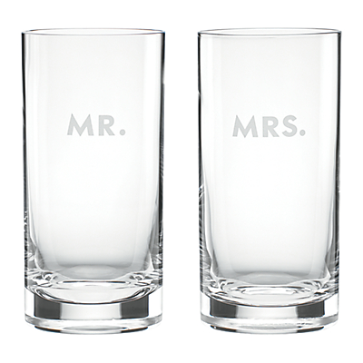 kate spade new york Darling Point Mr & Mrs Hiball, Set of 2