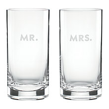Buy kate spade new york Darling Point Mr & Mrs Highball, Set of 2 Online at johnlewis.com