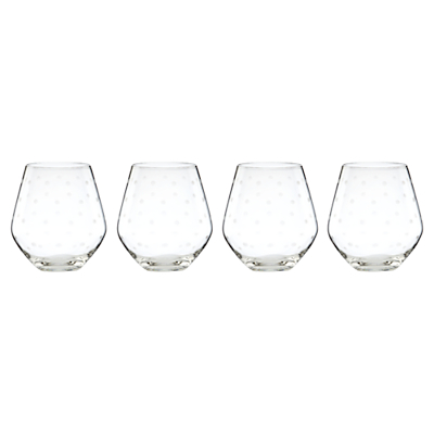 kate spade new york Larabee Etched Stemless Wine Glasses, Set of 4