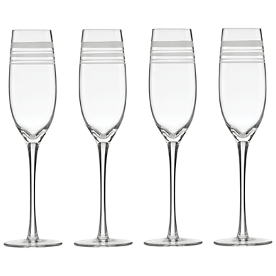 kate spade new york Library Stripe Flutes, Set of 4