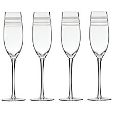 Buy kate spade new york Library Stripe Flutes, Set of 4 Online at johnlewis.com
