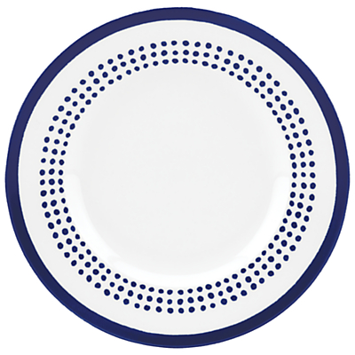 kate spade new york Charlotte Street East Accent Plate, White / Blue