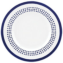 Buy kate spade new york Charlotte Street East Accent Plate, White / Blue Online at johnlewis.com