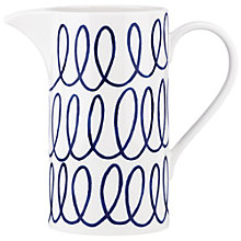 Buy kate spade new york Charlotte Street Pitcher, White / Blue Online at johnlewis.com