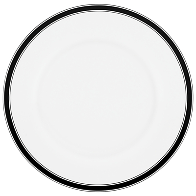 kate spade new york Concord Square Dinner Plate, White / Black