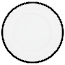 Buy kate spade new york Concord Square Dinner Plate, White / Black Online at johnlewis.com
