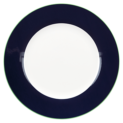 kate spade new york Hopscotch Drive Dinner Plate, White / Navy