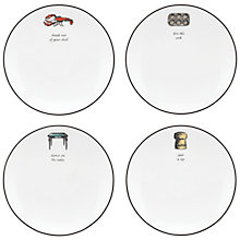 Buy kate spade new york Cause a Stir Tidbit Plate, Set of 4 Online at johnlewis.com