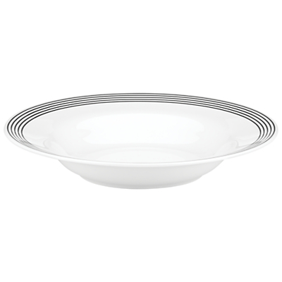 kate spade new york Concord Square Pasta Bowl, White/Black