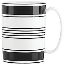 Buy kate spade new york Concord Square Mug, White/Black Online at johnlewis.com