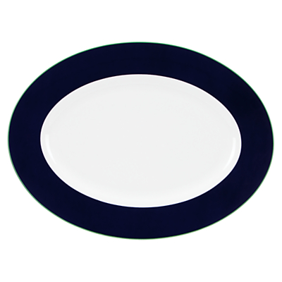 kate spade new york Hopscotch Drive Oval Platter, White/ Navy