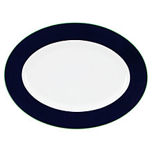 Buy kate spade new york Hopscotch Drive Oval Platter, White/ Navy Online at johnlewis.com