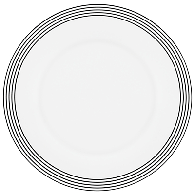 kate spade new york Concord Square Accent Plate, White/Black
