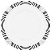 Buy kate spade new york Concord Square Accent Plate, White/Black Online at johnlewis.com