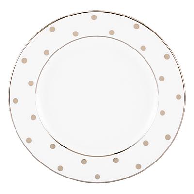kate spade new york Larabee Road Platinum Bone China Butter Plate, Silver/ White