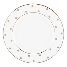Buy kate spade new york Larabee Road Platinum Bone China Butter Plate, Silver/ White Online at johnlewis.com