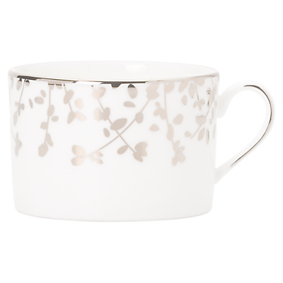 kate spade new york Gardener St Platinum Bone China Teacup, Silver/ White