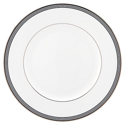kate spade new york Parker Place Platinum Rim Bone China Dinner Plate