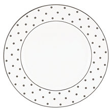 Buy kate spade new york Larabee Road Platinum Bone China Dinner Plate, Silver/ White Online at johnlewis.com