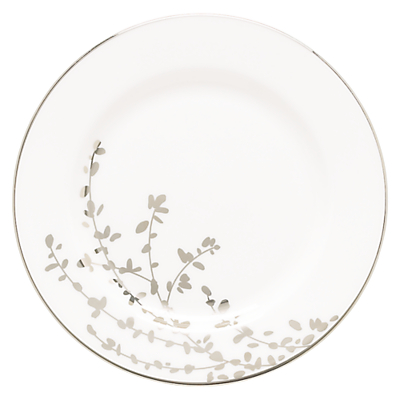 kate spade new york Gardener St Platinum Bone China Butter Plate, Silver/ White