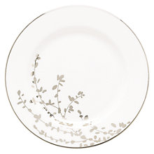 Buy kate spade new york Gardener St Platinum Bone China Butter Plate, Silver/ White Online at johnlewis.com