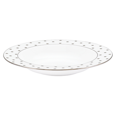 kate spade new york Larabee Road Platinum Bone China Pasta Bowl, Silver/ White