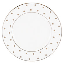 Buy kate spade new york Larabee Road Platinum Bone China Salad Plate, Silver/ White Online at johnlewis.com